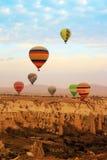 Gorące powietrze balon, Cappadocia Turcja wschód słońca Obraz Stock