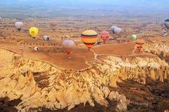 Gorące powietrze balon, Cappadocia Turcja wschód słońca Fotografia Stock