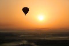 Gorące powietrze balon, Egipt wschód słońca Fotografia Stock