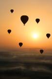 Gorące powietrze balon, Egipt wschód słońca Obrazy Royalty Free