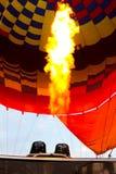 Gorące powietrze balon Luxor przy nocą fotografia stock