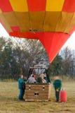 Gorące powietrze balon ogrzewa tuż przed zdejmował Zdjęcie Stock