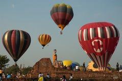 Gorące powietrze balon w Tajlandia zawody międzynarodowi balonu festiwalu 2009 Obraz Royalty Free