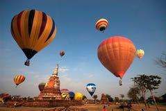 Gorące powietrze balon w Tajlandia zawody międzynarodowi balonu festiwalu 2009 Zdjęcie Royalty Free