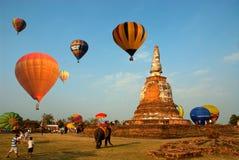 Gorące powietrze balon w Tajlandia zawody międzynarodowi balonu festiwalu 2009 Obrazy Royalty Free