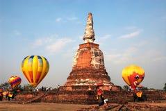 Gorące powietrze balon w Tajlandia zawody międzynarodowi balonu festiwalu 2009 Fotografia Royalty Free