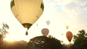Gorące Powietrze balon, zawody międzynarodowi Balonowy festiwal zdjęcie wideo