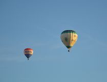 Gorące powietrze balonowi loty nad Melbourne obraz stock