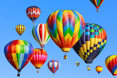 Gorące powietrze balony Obrazy Stock