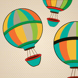 gorące powietrze balony Obraz Stock