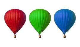 Gorące powietrze balony ustawiający Zdjęcie Royalty Free