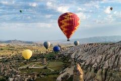 Gorące powietrze balony w Turcja zdjęcie royalty free