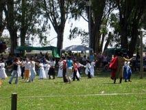 Gorące Powietrze festiwalu Capilla Del señor Buenos Aires Argentyna Balonowi 2005 Argentyńscy ludowi tanowie obraz royalty free
