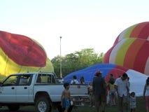 Gorące Powietrze festiwalu Capilla Del señor Buenos Aires Argentyna Balonowi 2005 Argentyńscy ludowi tanowie zdjęcie royalty free