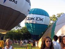 Gorące Powietrze festiwalu Capilla Del señor Buenos Aires Argentyna Balonowi 2005 Argentyńscy ludowi tanowie fotografia royalty free