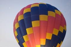 Gorące powietrze księżyc i balon Zdjęcia Royalty Free