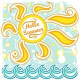 Gorące słońca i morza fala Obrazy Stock