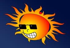 gorące słońce ilustracji