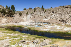 Gorące wiosny przy gorącą zatoczką geological Zdjęcie Stock