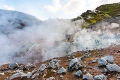 gorące wiosny w Landmannalaugar są w Iceland Zdjęcie Stock