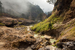Gorące wiosny Wspinają się Rinjani wulkan, Lombok, Indonezja Zdjęcia Royalty Free