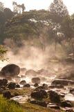 gorące wydźwignięcia dymu wiosna Fotografia Royalty Free