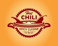 Gorącego chili cusine korzenna ikona ilustracji
