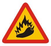gorącego pieprzu znak ilustracji