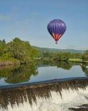 Gorącego Powietrza Balonu przejażdżka przy Quechee Vermont Fotografia Royalty Free
