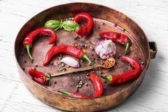 Gorącej Meksykańskiej pikantności czerwony pieprz Zdjęcie Royalty Free