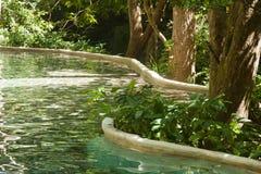 Gorącej wiosny basen w dżungli costa rica Obraz Royalty Free