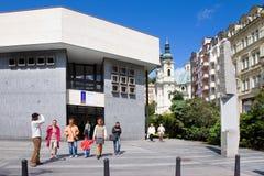 Gorącej wiosny kolumnada w zdroju grodzki Karlovy Zmienia, Zachodnia cyganeria, republika czech obraz stock