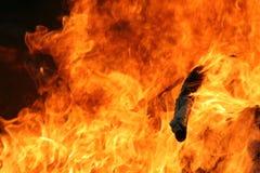 gorąco płomieni Zdjęcie Royalty Free