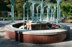Gorący źródło w woda mineralna parku w Borjomi Gruzja Fotografia Stock