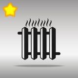 Gorący żelazny nagrzewacza czerni ikony guzika loga symbol Obrazy Stock