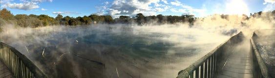 Gorący baseny w Kuirau parku w Rotorua Nowa Zelandia fotografia royalty free