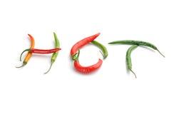 Gorący chili pieprze Obrazy Royalty Free