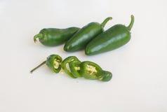 Gorący chili pieprze na białym tle Obraz Royalty Free