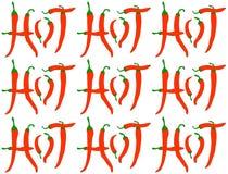 Gorący chili pieprze - wzór obraz stock