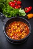 Gorący chili przeciwu carne Obraz Stock