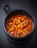 Gorący chili przeciwu carne Obrazy Royalty Free