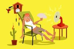 gorący dzień ilustracji