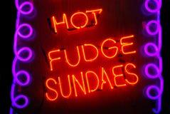 gorący fudge sundaes Obraz Stock