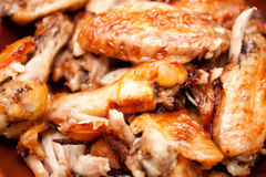 Gorący i korzenni bizonu stylu kurczaka skrzydła Zdjęcie Stock