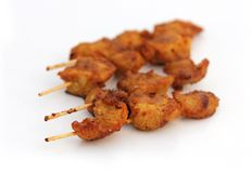 Gorący i Korzenny kurczak Kebab zdjęcie royalty free