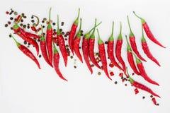 Gorący jak ogień, czerwonego chili pieprz fotografia stock