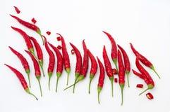 Gorący jak ogień, czerwonego chili pieprz zdjęcia stock