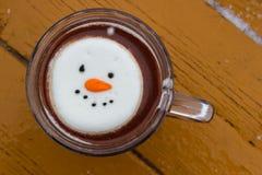 Gorący kakaowy zima koktajl obrazy royalty free