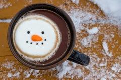 Gorący kakaowy zima koktajl fotografia royalty free