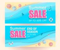Gorący lato sprzedaży typografii papieru falcowania projekt papieru cięcia styl Ulotka, zaproszenie, plakat, strona internetowa l ilustracji